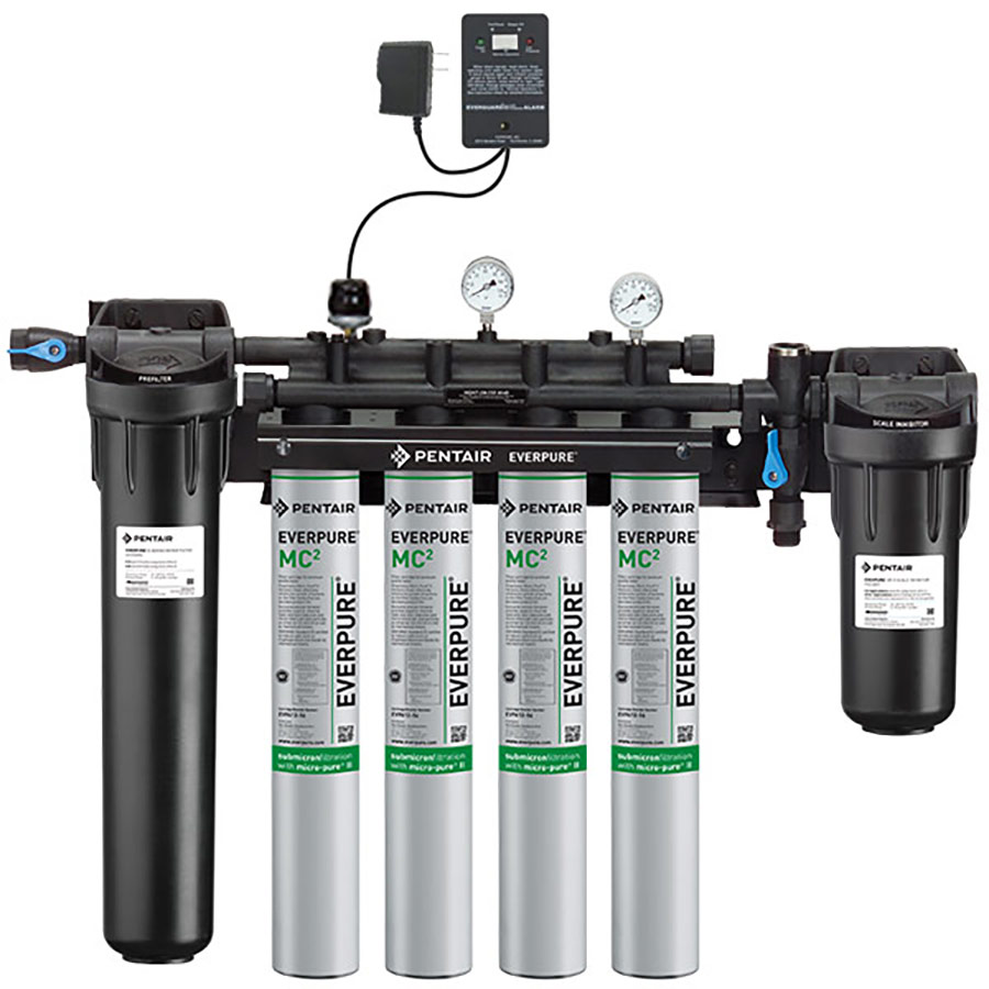 Everpure high flow csr quad mc2 with low pressure alarm for Everpure filter system
