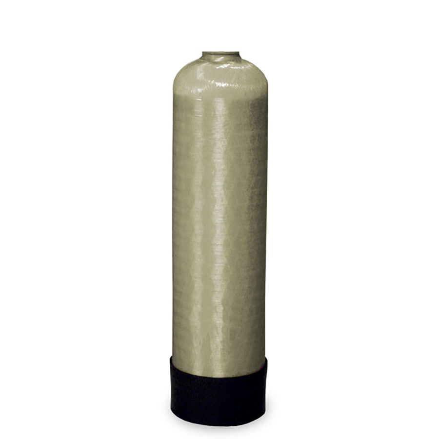 """Whole House Water Softener >> Structural Poly Glass Black Tank (9"""" x 35"""", 1.1 Cu Ft)"""