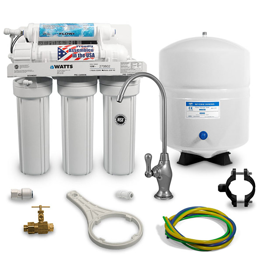 Watts 5 Stage 50 Gpd Reverse Osmosis System W Aquatec