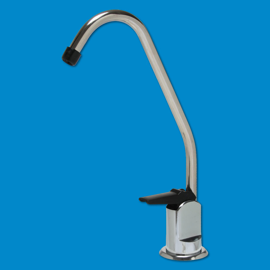 Standard Long Reach Drinking Water Faucet w Chrome Finish & Black Tip