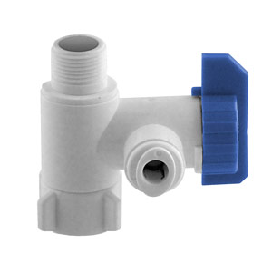 "3/8"" Angle Stop Connector Valve with 1/2"" Adaptors"