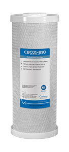 "CA Ware 10"" x 4.5"", 1 Micron Carbon Block Filter Cartridge"