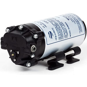 "Aquatec Booster Pump w/ 1/4"" JG Fittings for 50 GPD RO"
