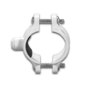 "White 1/4"" Drain Clamp w/ Quick-connect Fitting"