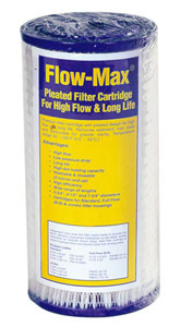 "Flow-Max 10"" x 4.5"", 1 Micron Pleated Sediment Cartridge"