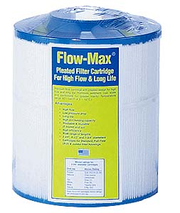 "Flow-Max Jumbo Model 40 9-5/8"" x 7-3/4"", 0.35 Micron Pleated Cartridge"