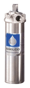 "Shelco 10"" 304L Stainless Steel Single Cartridge Housing with Center Rod (1/2"" Ports)"