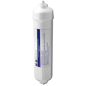 "H2O Filter Warehouse 11"" x 2.5"", 5 Micron Polypropylene Inline Filter w/ 1/4"" Quick-Connect Fittings"