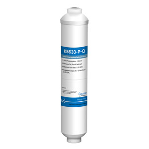 "CA Ware 10"", 5 Micron Polypropylene Inline Filter w/ 1/4"" Quick-Connect Fittings"