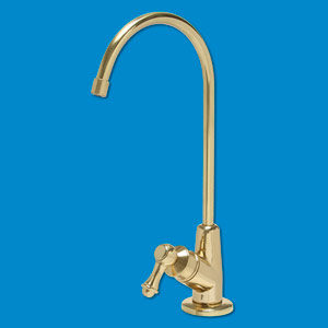Euro Style Luxury Lead Free Drinking Water Faucet - Polished Brass Finish