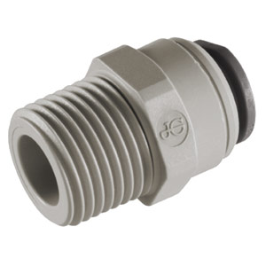 "John Guest 3/8"" x 1/2"" NPTF Male Connector (Acetal)"