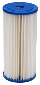 "Harmsco Calypso Blue Poly-Pleat 10"" x 4-1/2"", 1 Micron Absolute Pleated Sediment Cartridge"