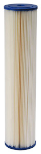 "Harmsco Calypso Blue Poly-Pleat 20"" x 4-1/2"", 1 Micron Absolute Pleated Sediment Cartridge"