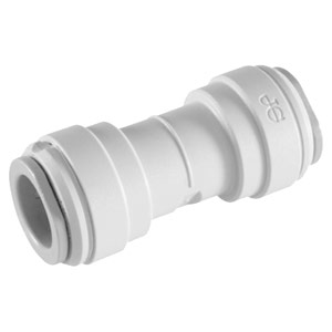"John Guest 1/4"" (OD) Straight Union Connector (White Polypropylene)"