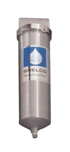 "Shelco 9-3/4"" 316L Stainless Steel Single Cartridge Housing (1"" Ports)"