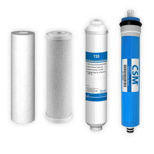4-Stage, 50 GPD Reverse Osmosis Replacement Cartridge Kit w/ CSM Membrane