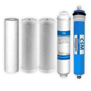 5-Stage, 100 GPD Reverse Osmosis Replacement Cartridge Kit w/ CSM Membrane