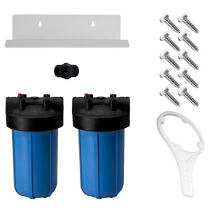 "Dual 10"" x 4.5"" Blue Full Flow/BB Housing Assembly - - 1"