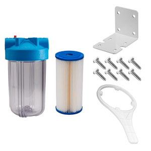 "10"" x 4.5"" Clear 5 Micron Sediment Filter Kit for UV System"