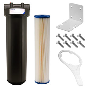 "20"" x 4.5"" Blue 5 Micron Sediment Filter Kit for UV System"