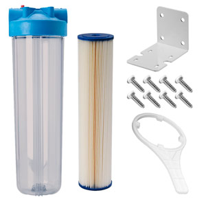 "20"" x 4.5"" Clear 5 Micron Sediment Filter Kit for UV System"