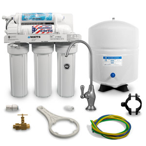 Components included with Watts W-525 RO System