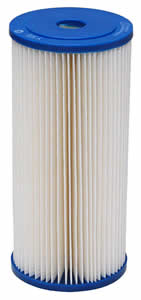"Harmsco Calypso Blue WaterBetter 9-3/4"" x 4-1/2"", 0.35 Micron Pleated Sediment Cartridge (9.5 sq ft Media)"