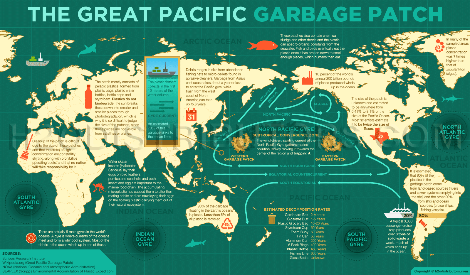 Pacific Garbage Patch Diagram