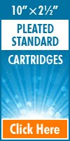 Pleated Standard Size Cartridges 10x2½