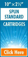 Melt Blown Standard Size Cartridges 10x2½