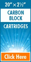 Carbon Block Standard Size Cartridges 20x2½