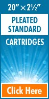 Pleated Standard Size Cartridges 20x2½