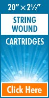 String Wound Standard Size Cartridges 20x2½