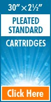 Pleated Standard Size Cartridges 30x2½