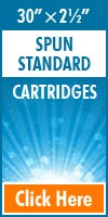 Melt Blown Standard Size Cartridges 30x2½
