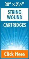 String Wound Standard Size Cartridges 30x2½