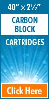 Carbon Block Standard Size Cartridges 40x2½